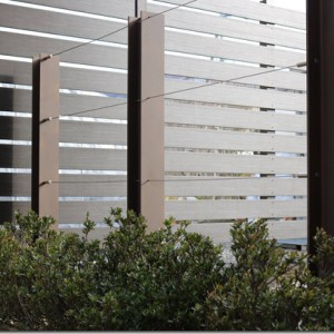 H鋼で作るフェンス。